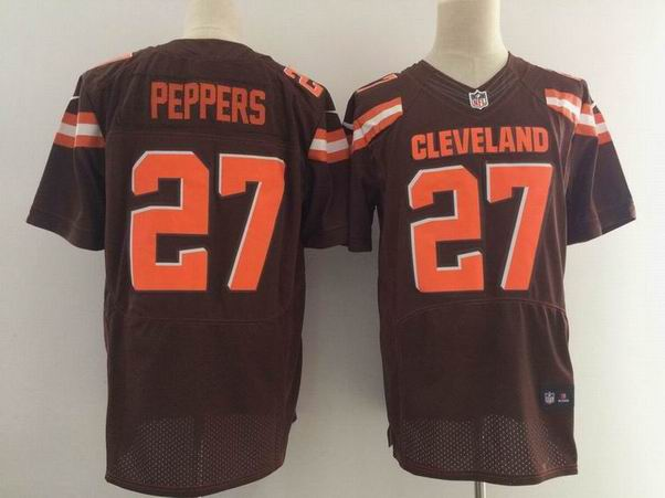 nike nfl cleveland browns #27 Peppers brown elite jersey