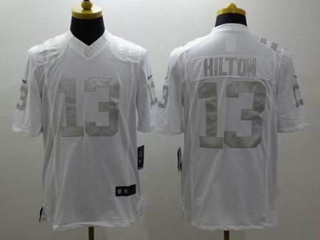 nike nfl colts 13 Hilton white Platinum Limited Jersey