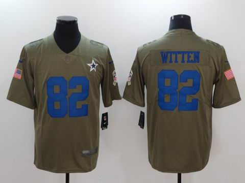 nike nfl cowboys #82 WITTEN Olive Salute To Service Limited Jersey