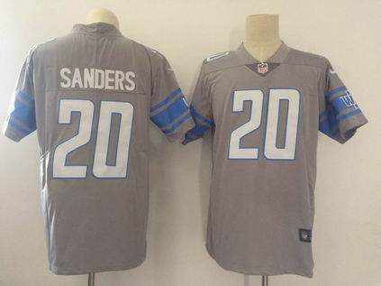 nike nfl detroit lions #20 Sanders gray rush limited jersey