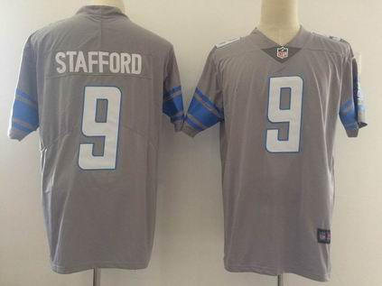 nike nfl detroit lions #9 STAFFORD gray rush limited jersey