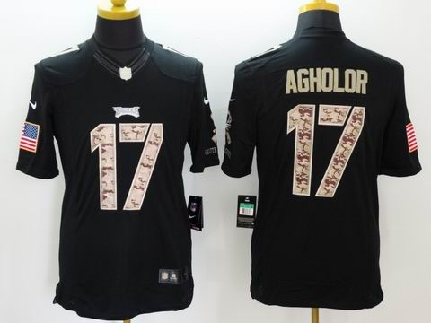 nike nfl eagles #17 Agholor Black Salute TO Service Jersey