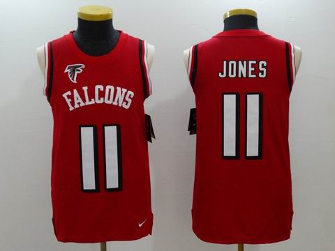 nike nfl faclons #11 Jones rush II red limited jersey no sleeve