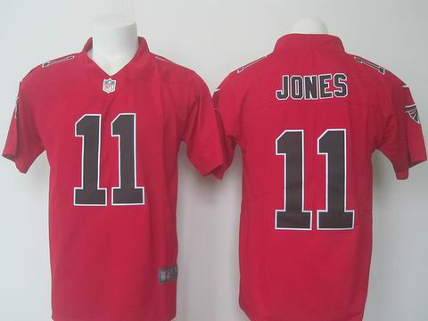 nike nfl faclons #11 Jones rush red limited jersey