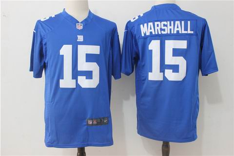 nike nfl giants #15 Marshall white blue jersey