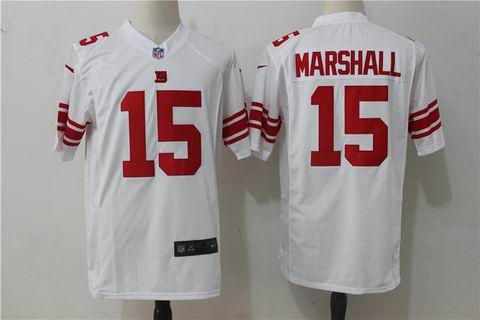 nike nfl giants #15 Marshall white game jersey