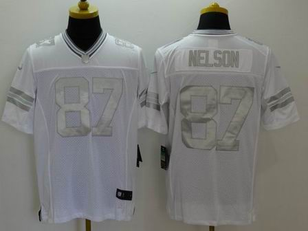 nike nfl packers 13 Nelson white Platinum Limited Jersey