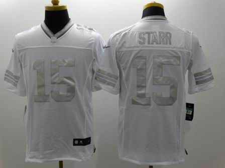 nike nfl packers 15 Starr white Platinum Limited Jersey