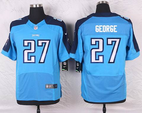 nike nfl tennessee titans #27 George light blue elite jersey