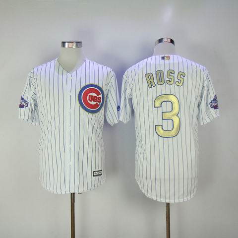 women MLB Cubs #3 Ross white 2016 Champions jersey