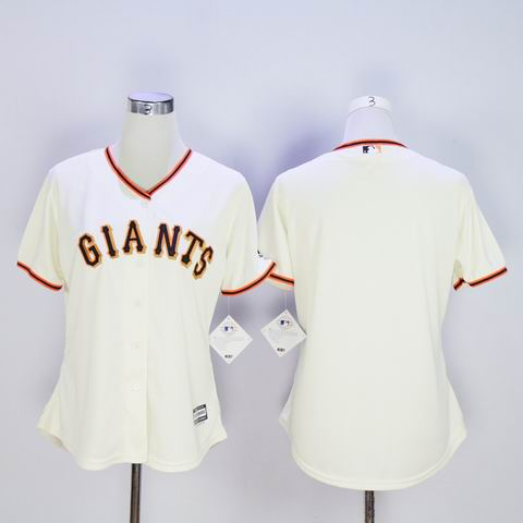women MLB giants blank rice white jersey