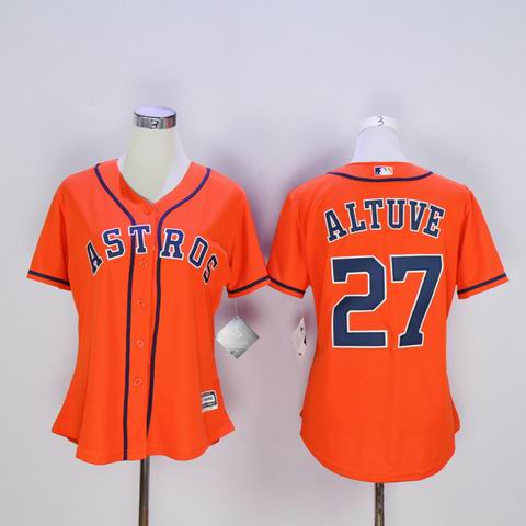 women MLB houston Astros #27 Altuve orange jersey