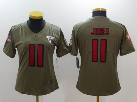 women Nike nfl Falcons #11 Jones Olive Salute To Service Limited Jersey