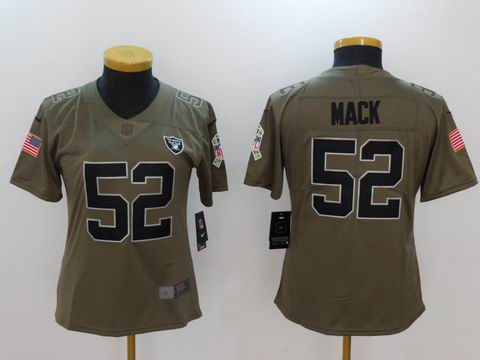 women Nike nfl Raiders #52 Mack Olive Salute To Service Limited Jersey
