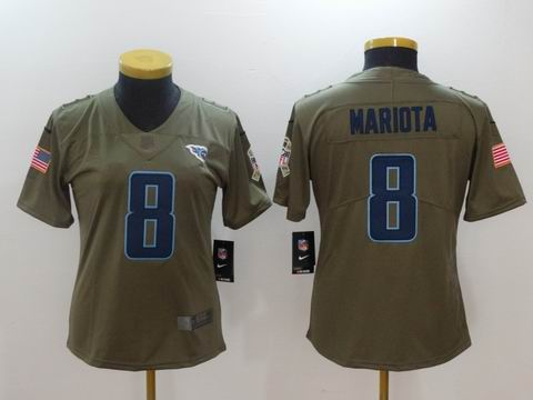 women Nike nfl titans #8 Mariota Olive Salute To Service Limited Jersey