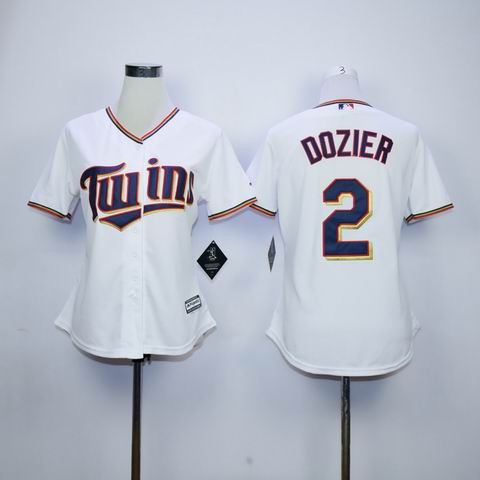 women mlb Minnesota Twins #2 Dozier white jersey