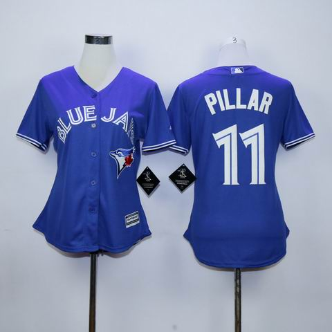 women mlb Toronto Blue Jays #11 Pillar blue jersey