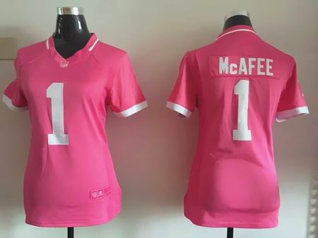 women nike nfl colts 1 McAFEE Pink Bubble Gum Jersey