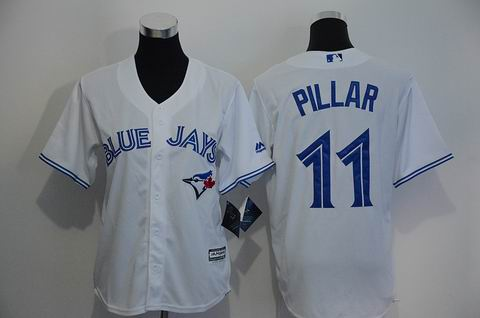 youth Toronto Blue Jays #11 Pillar white jersey