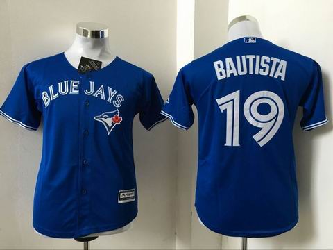 youth Toronto Blue Jays #19 Bautista blue jersey