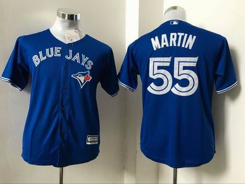 youth Toronto Blue Jays #55 Martin blue jersey