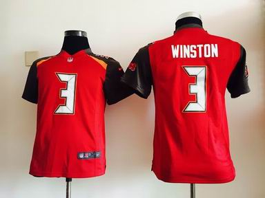 youth nike nfl buccaneers 3 winston red jersey