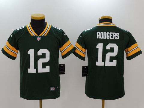 youth nike nfl packers #12 RODGERS rush II green jersey